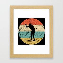 Biathlon Vintage Retro Biathlete Framed Art Print