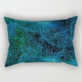 System Network Connection Rectangular Pillow