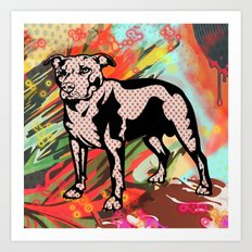 Super dog pop art Art Print