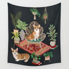 Corgis living room Wall Tapestry