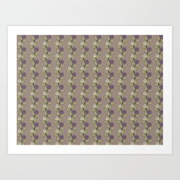 Flower gray Art Print