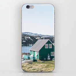 Coloured houses of Greenland iPhone Skin