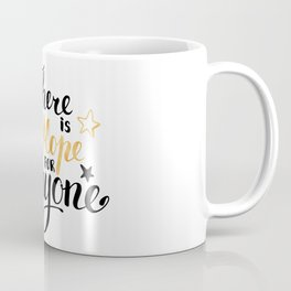 There is a Hope for Everyone - Black and gold brush pen lettering. Coffee Mug