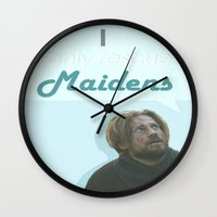 lannister Wall Clocks featuring Maiden by Passion Grows Within