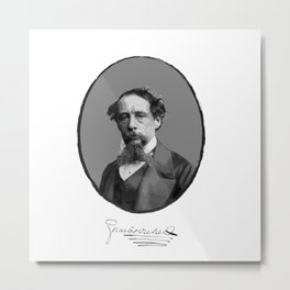 Authors - Charles Dickens Metal Print