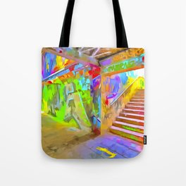 London Graffiti Pop Art Tote Bag