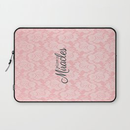 I believe in Miracles Pink Lace  Laptop Sleeve