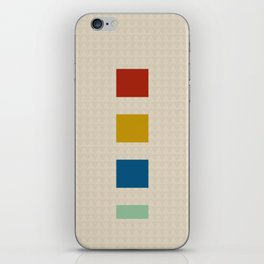 four elements || tweed & primary colors iPhone Skin