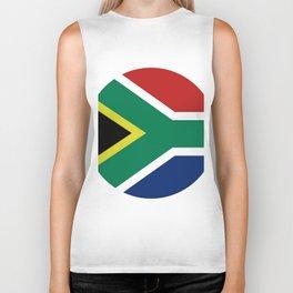south africa flag Biker Tank