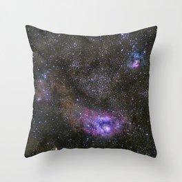 Lagoon and Trifid Nebula in Sagitarius Throw Pillow