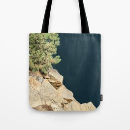 Tree And Rock And Water Tote Bag