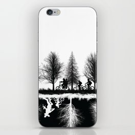 Upside Down Silhouette Scene iPhone Skin