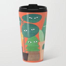 The plants are watching (paranoidos maximucho) Metal Travel Mug