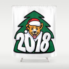 Happy New Year of Yellow Dog Shower Curtain