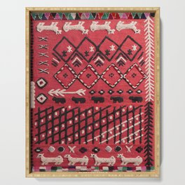 V22 Sheep herd Design Traditional Moroccan Carpet Texture. Serving Tray