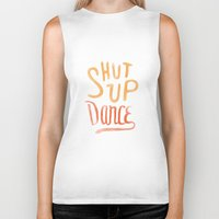 dance Biker Tanks featuring Dance by skitchism