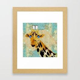 Giraffe Baby Pop Art Framed Art Print
