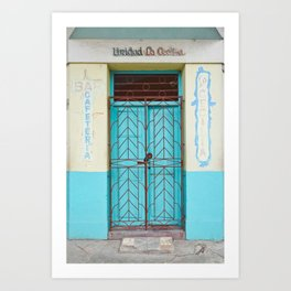 Havana Cuba Old Iron Door Colorful Latin America Caribbean Island Travel Art Print Turquoise Art Print
