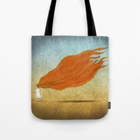 redhead Tote Bags featuring Redhead by Mild Visualitis