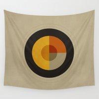 minimalism Wall Tapestries featuring Minimalism / Geometric 1 by ViviGonzalezArt