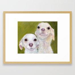 Double Chihuahua Attitude Framed Art Print