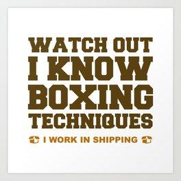 I Know Boxing Techniques Art Print