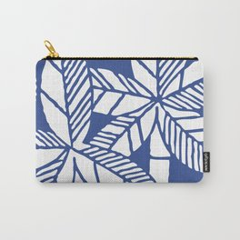 Tropical Palm Tree Composition Indigo Blue Carry-All Pouch