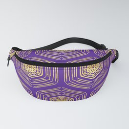 Gold coin motif on a beautiful violet background for a rich designer look Fanny Pack