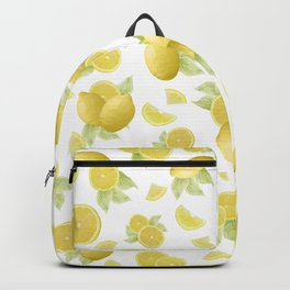 Summer Lemon Twist #1 #tropical #fruit #decor #art #society6 Backpack