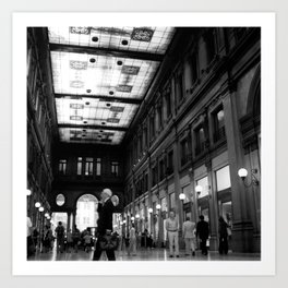 Shopping in Rome Art Print