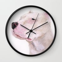 dolly parton Wall Clocks featuring Dolly by Krystine Lopez