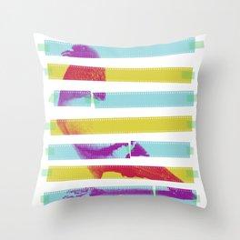 Striped Bird. Throw Pillow
