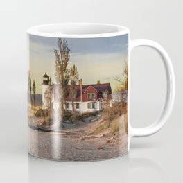 Point Betsie Lighthouse at Sunset Coffee Mug
