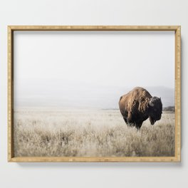 Bison stance Serving Tray