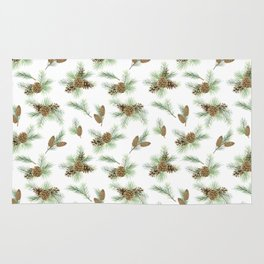 pine branches and cones pattern Rug