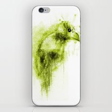 Splatter Bird Green iPhone & iPod Skin