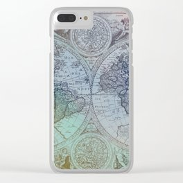 Map of the Colorful World Clear iPhone Case
