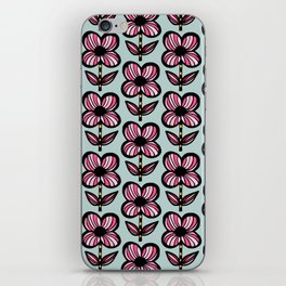 Big floral - pink6 iPhone Skin