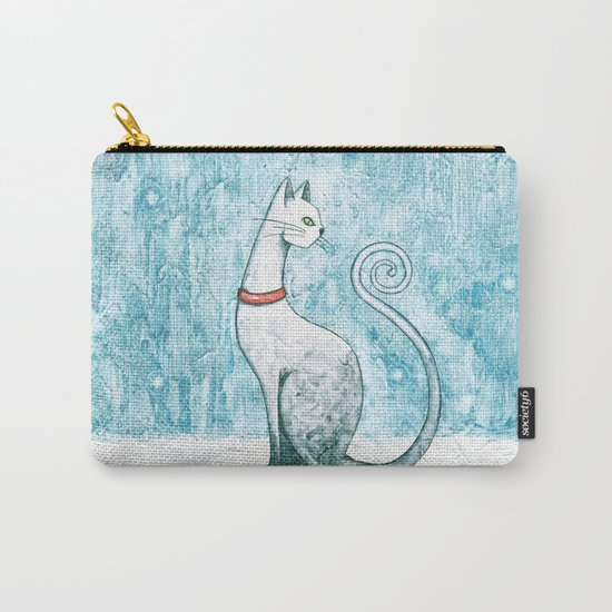 Winter Cat Carry-All Pouch