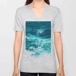 Marble Ocean - Ocean Photography Unisex V-Neck