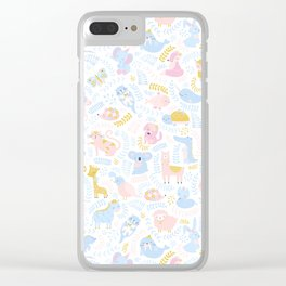 Cute Alphabet Clear iPhone Case