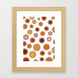 Floral Dots Framed Art Print