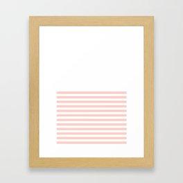 Peach Half Stripe Pattern Framed Art Print