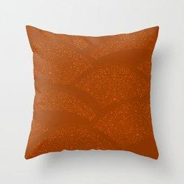 Sparkling Hills - Rust Orange Throw Pillow