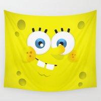 spongebob Wall Tapestries featuring SpongeBob by solostudio