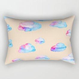 Watercolor Clouds at Sunset Rectangular Pillow