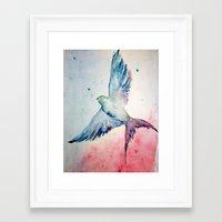 flight Framed Art Prints featuring Flight by Megan Hunter