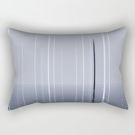 Narrow lights_blue Rectangular Pillow