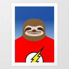A SLOTH NAMED FLASH Art Print