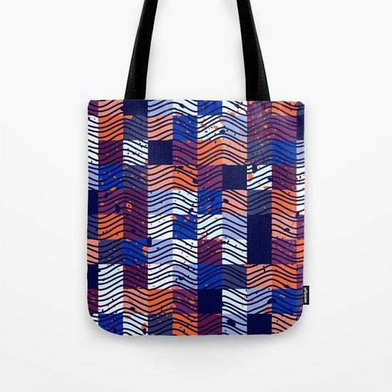 Square Wave Tote Bag